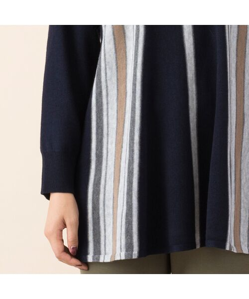 PISANO / ピサーノ ニット・セーター | ストライプフレアラインニットプルオーバー | 詳細9