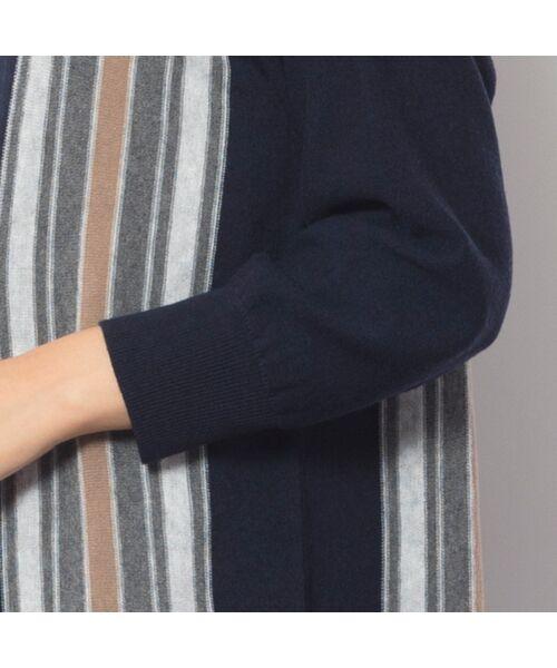 PISANO / ピサーノ ニット・セーター | ストライプフレアラインニットプルオーバー | 詳細12