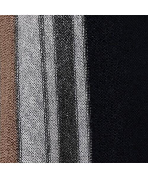 PISANO / ピサーノ ニット・セーター | ストライプフレアラインニットプルオーバー | 詳細13