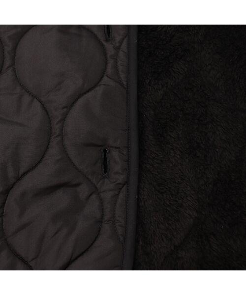 PISANO / ピサーノ その他アウター | 裏ボアキルティングノーカラージャケット・ストール付き | 詳細14