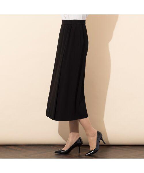 PISANO / ピサーノ ミニ・ひざ丈スカート | [大きいサイズ/L-3L]バックサテンラップ風タイトスカート[セットアップ対応] | 詳細1