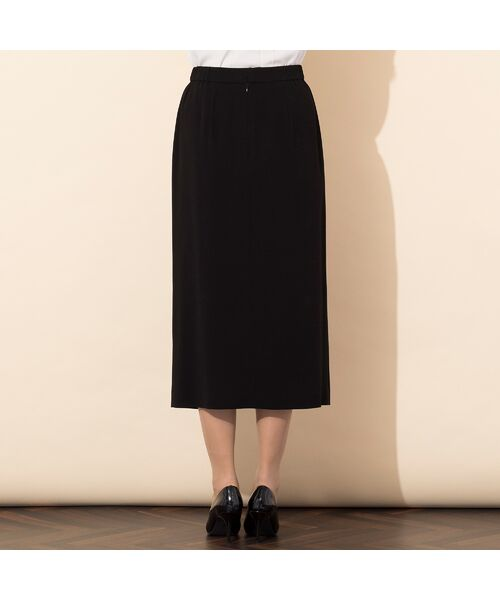 PISANO / ピサーノ ミニ・ひざ丈スカート | [大きいサイズ/L-3L]バックサテンラップ風タイトスカート[セットアップ対応] | 詳細2