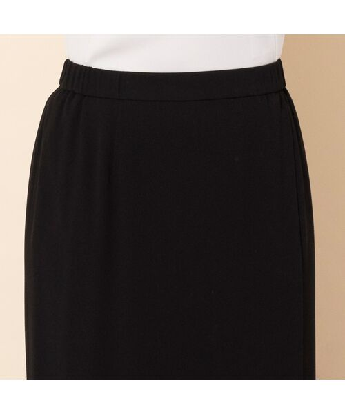 PISANO / ピサーノ ミニ・ひざ丈スカート | [大きいサイズ/L-3L]バックサテンラップ風タイトスカート[セットアップ対応] | 詳細4