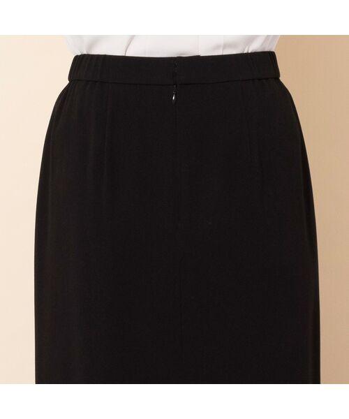 PISANO / ピサーノ ミニ・ひざ丈スカート | [大きいサイズ/L-3L]バックサテンラップ風タイトスカート[セットアップ対応] | 詳細5