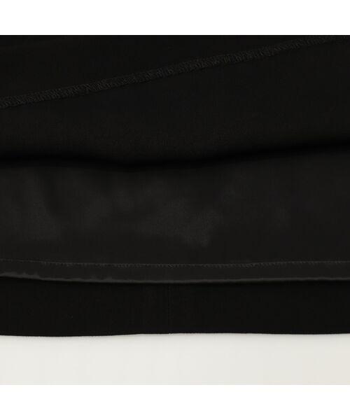 PISANO / ピサーノ ミニ・ひざ丈スカート | [大きいサイズ/L-3L]バックサテンラップ風タイトスカート[セットアップ対応] | 詳細6