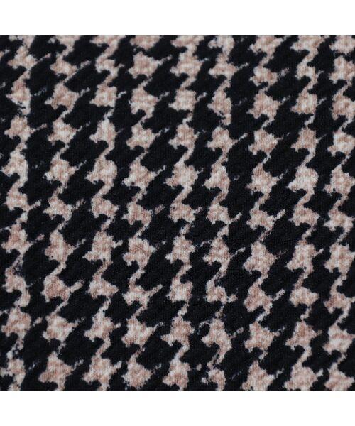 PISANO / ピサーノ カットソー | 【大きいサイズ/人気のため追加生産】ミニ千鳥プリントロングTシャツ | 詳細7