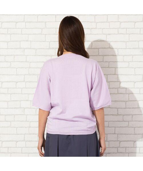 PISANO / ピサーノ ニット・セーター | 【大きいサイズ】コットン/アクリル・ボートネックニット | 詳細10