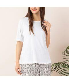 <b>◆手洗いOK/大きいサイズ/L-LL◆<br><font color='#ff3366'>■エコロジーな上質素材にこだわった、大人のためのシンプルTシャツ■</font></b><br><br>上品なツヤのあるリヨセル/ポリエステルの、カジュアルすぎない大人っぽいTシャツです。<br>程よい開きのクルーネック、二の腕をしっかりカバーする袖丈など、ディティールにもこだわりました。程よくボディラインにフィットするシルエットで、一枚着でもきれいに着られます。<br>シンプルなデザインで柄ボトムとも好相性。<br>色違いで揃えておきたい万能アイテムです。<br><br><b><font color='#ff3366'>■素材</font></b><br>こちらの『エコイト』はサスティナブルな社会への貢献に取り組むエコロジー素材です。<br>再生繊維リヨセルと東レのリサイクルポリエステルを使用しています。<br>[モデル身長:173センチ]<br><br><b><font color='#ff3366'>■商品特性■</font></b><br>生地感: やや薄手<br>伸縮性: あり<br>光沢感: なし<br>透け感: なし(ホワイト:ややあり)<br><br>襟ぐり: クルーネック<br>裏 地: なし<br>袖 丈: 5分丈<br>かぶりタイプ<br><br><b><font color='#ff3366'>■洗濯表示■</font></b><br>手洗い可=取り扱いについては、商品についている洗濯表示でご確認ください。<br><br><b><font color='#ff3366'>■PISANO BrandConcept■</font></b><br>トレンドに敏感でありながら、柔らかく優美なデザインで'かしこまりすぎず、飾りすぎない'どこか余裕のある大人の女性らしさを追い求めるブランドです。<br>◆Lサイズ/LLサイズ(13~17)号展開<br>◆3Lサイズ(19~21号)は一部商品限定展開<br><br>※モデル画像はサンプルを使用している為、実際にお届けする商品と仕様が若干異なる場合がございます。<BR>