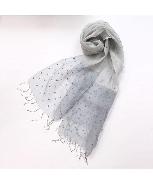 PISANO / ピサーノ マフラー・ショール・スヌード・ストール | パールビーズ刺繍オーガンジーストール | 詳細2