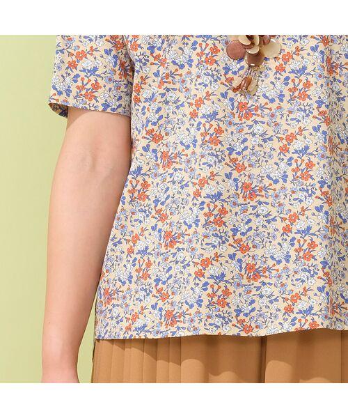 PISANO / ピサーノ カットソー | リバティプリント・コットン天竺クルーネックTシャツ | 詳細3