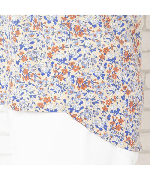 PISANO / ピサーノ カットソー | リバティプリント・コットン天竺クルーネックTシャツ | 詳細4
