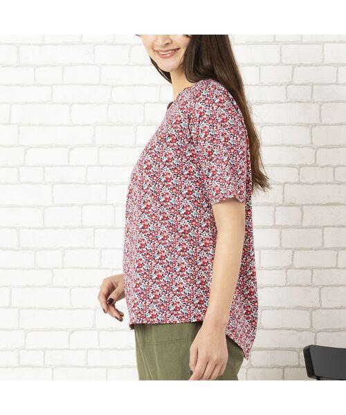 PISANO / ピサーノ カットソー | リバティプリント・コットン天竺クルーネックTシャツ | 詳細7
