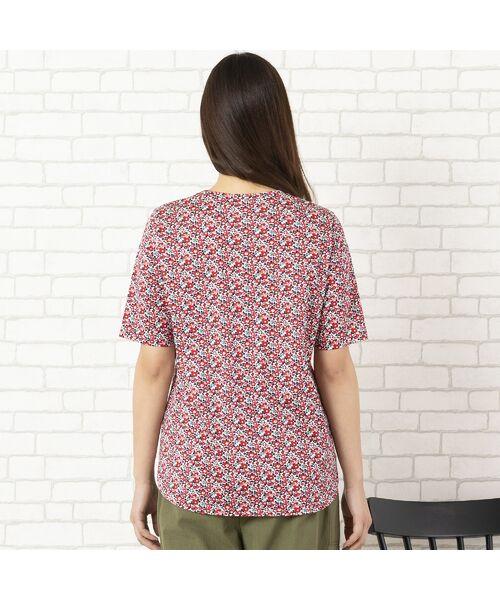 PISANO / ピサーノ カットソー | リバティプリント・コットン天竺クルーネックTシャツ | 詳細8