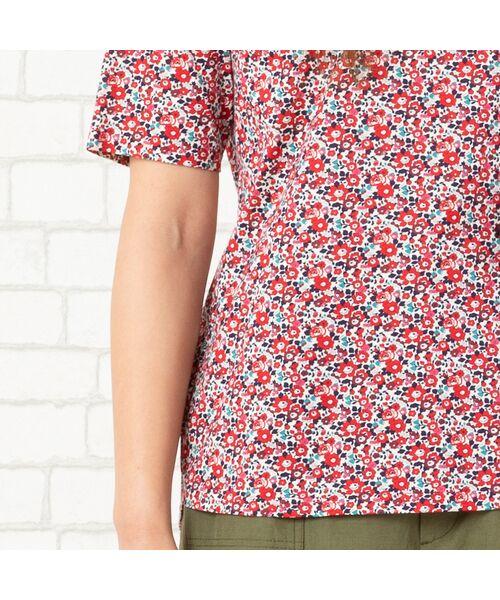 PISANO / ピサーノ カットソー | リバティプリント・コットン天竺クルーネックTシャツ | 詳細10