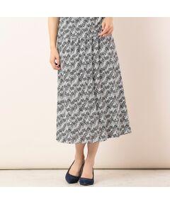 <b>◆手洗いOK/大きいサイズ/L-LL◆<br><font color='#ff3366'>■上品エレガントなスカートスタイルを楽しむ■</font></b><br><br>シックなキカ柄で夏のきれいめスタイルにぴったりのスカート。<br>ドライタッチでさらさらとした肌触りの、清涼感のあるジャージー素材を使用しています。<br>ウエストはゴム入り、ストレッチ性抜群なのでイージーな履き心地。<br>裏地付きなので脚が透ける心配は有りません。<br><br><b><font color='#ff3366'>■コーディネート</font></b><br>シリーズでTシャツ[品番:56123007]をご用意しています。<br>セットでワンピース風の着こなしがオススメです。<br>ショート丈のトップスと相性良く着ていただけるので、お手持ちのブラウスやTシャツと合わせてもお出かけスタイルにぴったりのコーディネートに。<br><br><b>〈コーディネート商品〉</b><br>サッカーストライプ・テーラードジャケット/品番:56103001<br>フラワー刺繍ストール/品番:56161001<br>[モデル身長:173センチ]<br><br><b><font color='#ff3366'>■商品特性■</font></b><br>透け感: なし<br>生地感: 薄手<br>伸縮性: なし<br>光沢感: なし<br><br>ウエスト: 後ろゴム(後ろ中心ファスナー開き)<br>裏  地: あり(ニット裏地)<br>脇ポケット<br><br><b><font color='#ff3366'>■洗濯表示■</font></b><br>手洗い可=取り扱いについては、商品についている洗濯表示でご確認ください。<br><br><b><font color='#ff3366'>■PISANO BrandConcept■</font></b><br>トレンドに敏感でありながら、柔らかく優美なデザインで'かしこまりすぎず、飾りすぎない'どこか余裕のある大人の女性らしさを追い求めるブランドです。<br>◆Lサイズ/LLサイズ(13~17)号展開<br>◆3Lサイズ(19~21号)は一部商品限定展開<br><br>※モデル画像はサンプルを使用している為、実際にお届けする商品と仕様が若干異なる場合がございます。<BR>