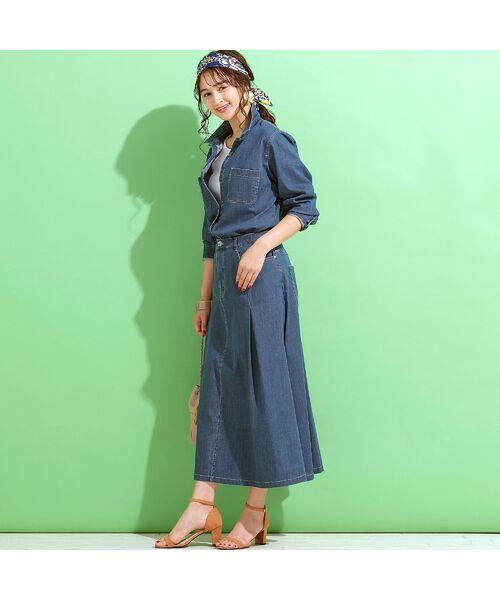 PISANO / ピサーノ ミニ・ひざ丈スカート | ライトオンスデニム・フレアスカート | 詳細2