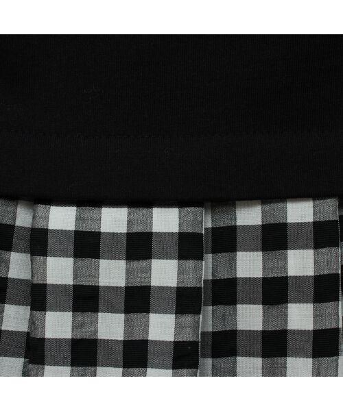 PISANO / ピサーノ カットソー | プレミアムコットン・ギンガムチェックコンビTシャツ | 詳細4