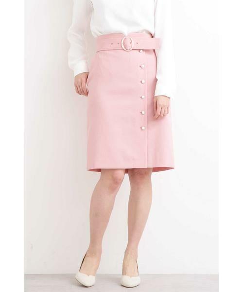 PROPORTION BODY DRESSING / プロポーションボディドレッシング  スカート | プテラノブッチャーパール付きタイトスカート(ピンク)