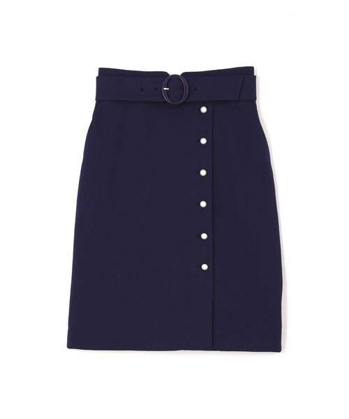 PROPORTION BODY DRESSING / プロポーションボディドレッシング  スカート | プテラノブッチャーパール付きタイトスカート | 詳細17