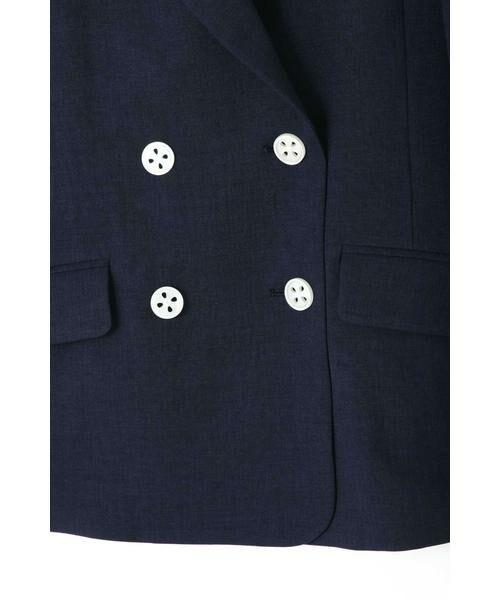 PROPORTION BODY DRESSING / プロポーションボディドレッシング  テーラードジャケット | ◆《EDIT COLOGNE》貝調ダブルボタンジャケット | 詳細5