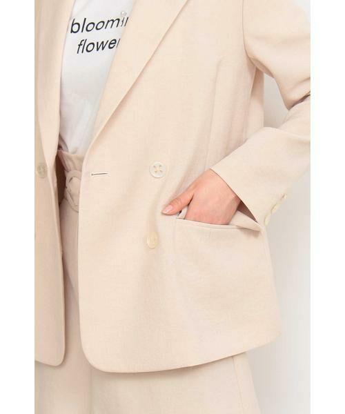 PROPORTION BODY DRESSING / プロポーションボディドレッシング  テーラードジャケット | ◆《EDIT COLOGNE》貝調ダブルボタンジャケット | 詳細16