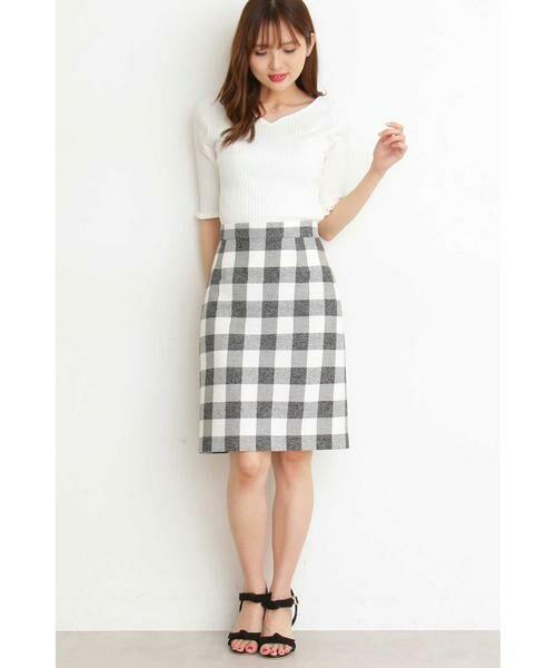 PROPORTION BODY DRESSING / プロポーションボディドレッシング  スカート | ギンガムチェックリボンタイトスカート | 詳細8