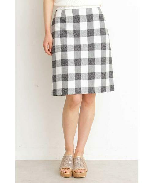 PROPORTION BODY DRESSING / プロポーションボディドレッシング  スカート | ギンガムチェックリボンタイトスカート(ブラック)