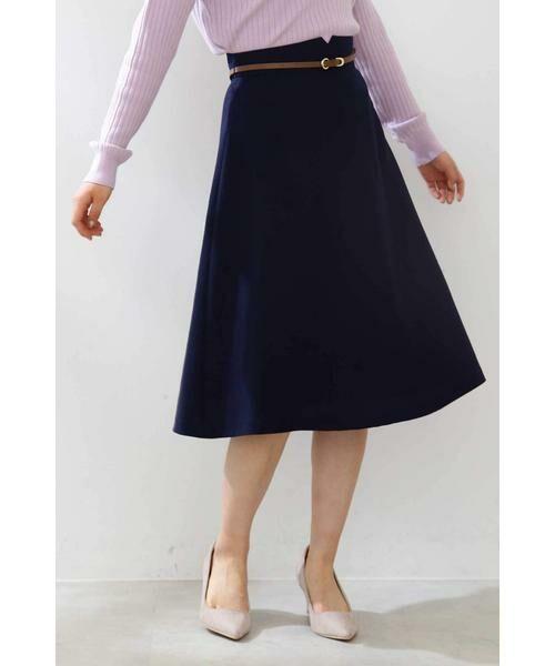 PROPORTION BODY DRESSING / プロポーションボディドレッシング  スカート | ベルト付きフレアスカート | 詳細14