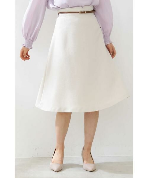 PROPORTION BODY DRESSING / プロポーションボディドレッシング  スカート | ベルト付きフレアスカート | 詳細18