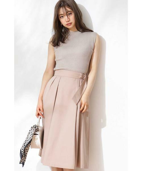 PROPORTION BODY DRESSING / プロポーションボディドレッシング  スカート   ◆リングベルトフレアスカート(ベージュ)