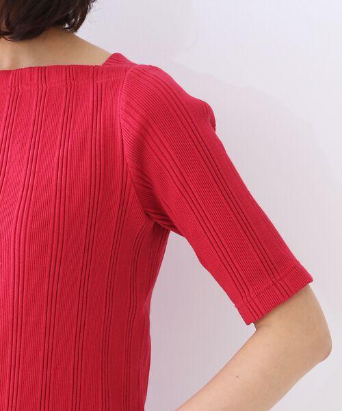 qualite / カリテ Tシャツ | ランダムテレコ5分袖プルオーバー | 詳細7