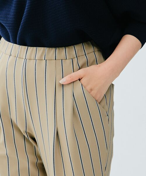 qualite / カリテ パンツ   マルチストライプタックパンツ   詳細6