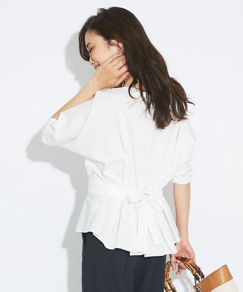 qualite / カリテ Tシャツ | バックギャザーカットソー | 詳細1