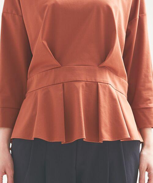 qualite / カリテ Tシャツ | バックギャザーカットソー | 詳細11