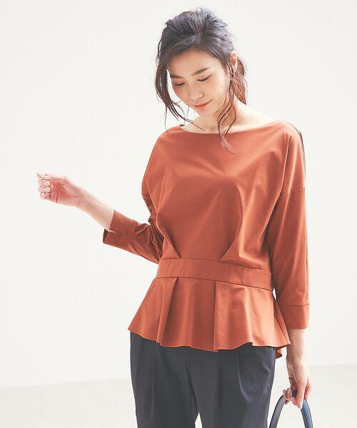 qualite / カリテ Tシャツ | バックギャザーカットソー | 詳細13
