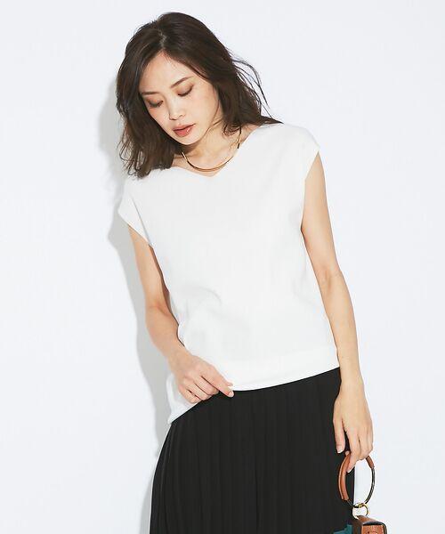 qualite / カリテ ニット・セーター | アシメニットプルオーバー(ホワイト)