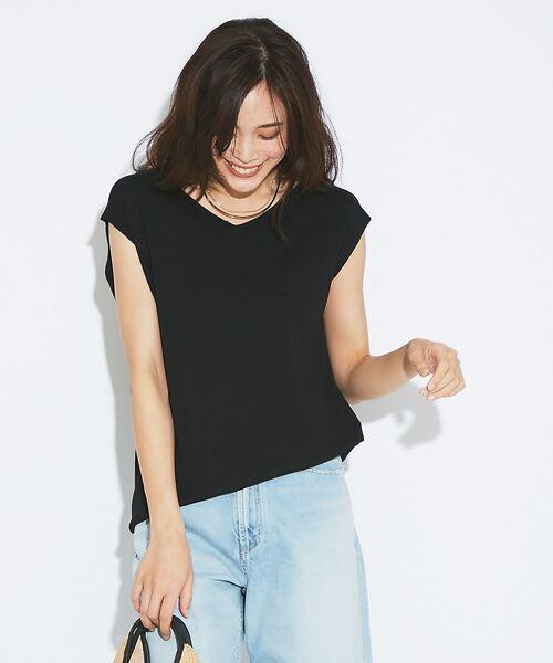 qualite / カリテ ニット・セーター | アシメニットプルオーバー(ブラック)