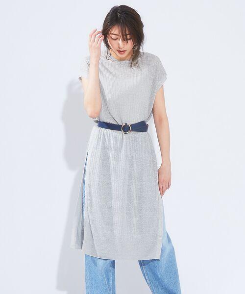 qualite / カリテ ニット・セーター   メランジリネンロングリブニット   詳細1