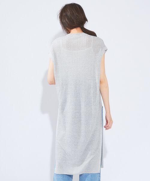 qualite / カリテ ニット・セーター   メランジリネンロングリブニット   詳細3