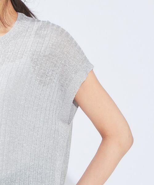 qualite / カリテ ニット・セーター   メランジリネンロングリブニット   詳細5