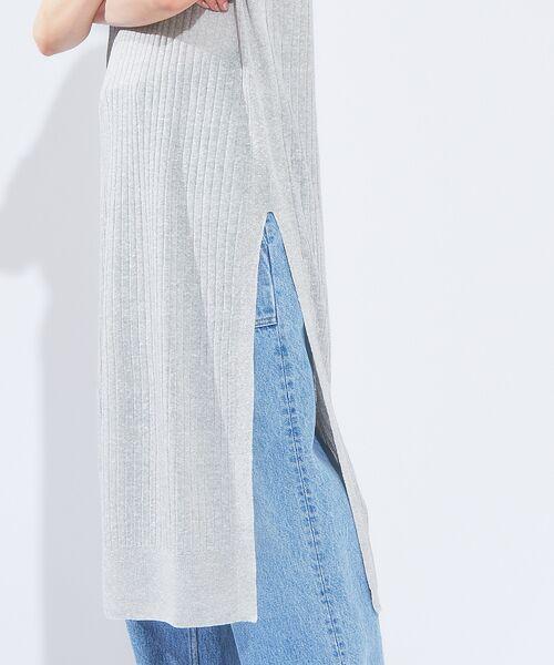 qualite / カリテ ニット・セーター   メランジリネンロングリブニット   詳細6