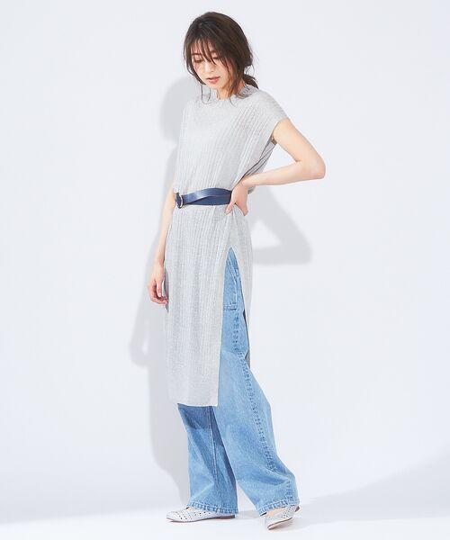 qualite / カリテ ニット・セーター   メランジリネンロングリブニット   詳細8