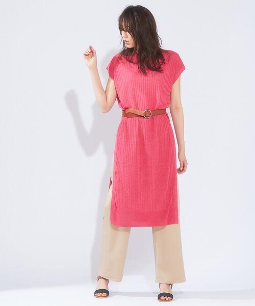 qualite / カリテ ニット・セーター   メランジリネンロングリブニット   詳細9