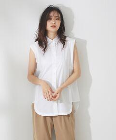 <strong>*Detail*</strong><br>フロント・サイド・バックとパネル分けしたデザインシャツ。<br>清潔感がありながら、少しエッジを効かせたモードなアイテム。<br><br><strong>*Coordinate*</strong><br>デザイン性のあるシャツブラウスは着るだけで存在感のあるスタイルに!<br>あえて襟は開けずにクラシカルに着ると雰囲気が出ます。<br>長めの着丈なのでローゲージニットとのレイヤードもおすすめです。<br><BR>