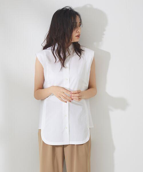 qualite / カリテ シャツ・ブラウス   サイドパネルシャツブラウス   詳細9