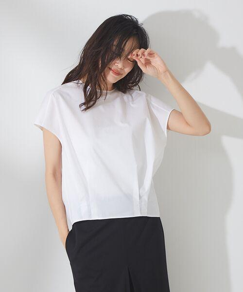 qualite / カリテ シャツ・ブラウス | タイプライタークルーブラウス【予約】(ホワイト)