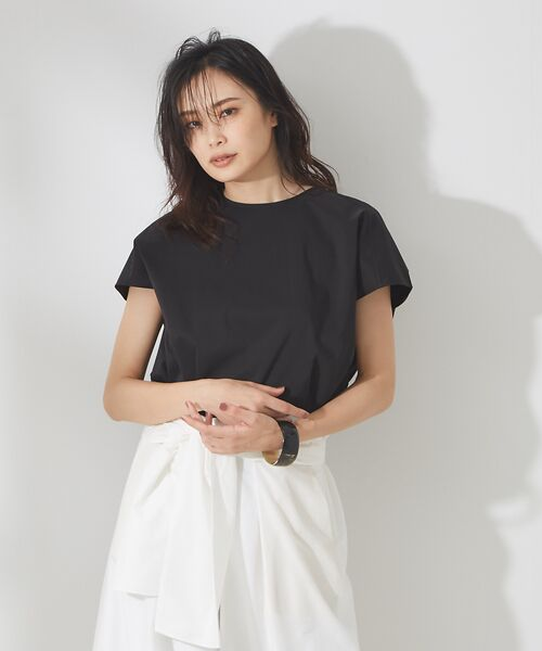 qualite / カリテ シャツ・ブラウス | タイプライタークルーブラウス【予約】(ブラック)