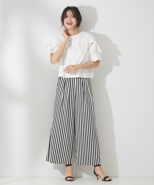 qualite / カリテ Tシャツ | リボン切り替え2WAYカットソー【予約】 | 詳細2
