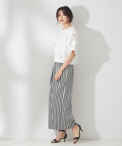 qualite / カリテ Tシャツ | リボン切り替え2WAYカットソー【予約】 | 詳細3