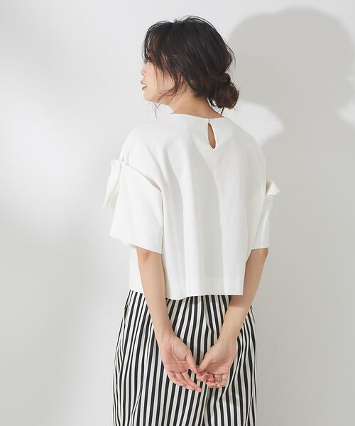 qualite / カリテ Tシャツ | リボン切り替え2WAYカットソー【予約】 | 詳細4